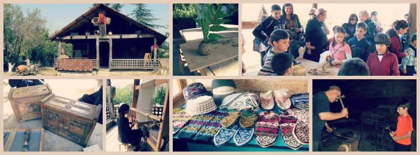 Final exhibition of craft making program at the Open Air Museum of Ethnography